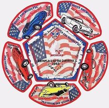 "2017 National Jamboree ""Corvette"" patch set - (Water and Woods FSC) Flint, MI"