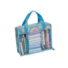 Hobbygift Vintage Style Blue Floral Pattern Quilting Fat Quarter Quarters Bag