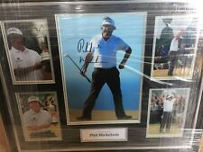 New listing PHIL MICKELSON - GOLF - THE OPEN - ORIGINAL SIGNED 12x8 PHOTO MOUNT - LOA