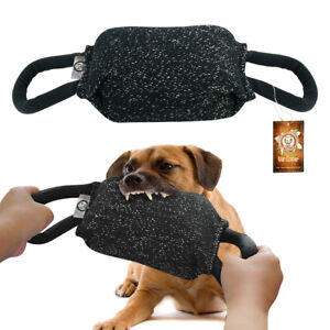 Jute Bite Pillow K9 Training Dog Treat Chew Toys for Aggressive Chewers Padded