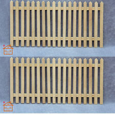 Fence 3pc unfinished wood dollhouse 1/12 scale Stairs 6.1inch barrier