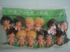 SUPER RARE VINTAGE BIG EYES DOLL SET OF 12 JAPAN KIDDLE ALIKE SMALL ANGEL DOLLS