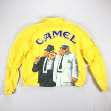 Vintage 1992 Mens XL Camel Cigarettes Joe Camel Yellow Tyvek Paper Jacket 1647N