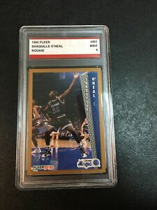 1992 FLEER SHAQUILLE O'NEAL ROOKIE CARD MINT 9