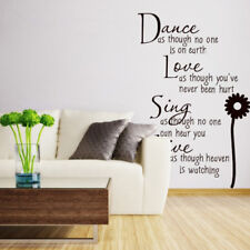 Wall Sticker Dance Like No One Is Watching Love Sing Live Decor Home 、G0HWC