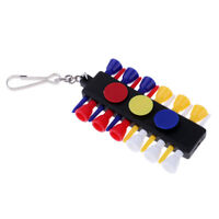 Golf Ball Tee Holder with 12 Plastic Tees + 3 Ball Markers Club Accessories