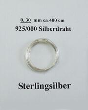 Silberdraht  925/000       0,3  mm   4 Meter                            D