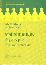 Mathématique du CAPES