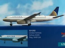 Herpa Wings  1:500 531252  United Airlines Airbus A320 - N491UA