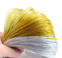 100M Metallic Silver Gold Purl Wire Coil Bullion Cord Craft Jewelry Making 1.0mm