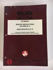 Holden Vectra - JR Series Service Instructions Vol. 5 Main groups N,R,S