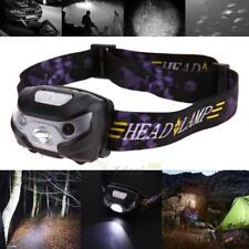 8-10 Hours LED Motion Sensor Headlamp Headlight USB Rechargeable Head Flashlight