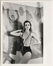 Original vintage 1985 fashion, swimsuit model, stamped