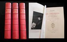 Erasme:Les Colloques, Librairie des bibliophiles 1875 vignettes à l'eau-forte