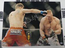 Frank Mir Signed 16x20 Photo BAS Beckett COA UFC 81 100 Picture vs Brock Lesnar