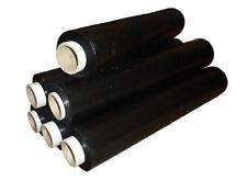 10 x Black Stretch Shrink Film Pallet Wrap 500mm x 250m 25mu FREE P&P