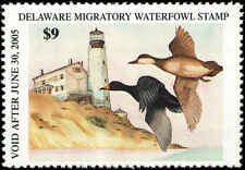 Delaware #25 2004 State Duck American Scoter / Lighthouse by Bonnie Field