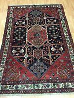 "4'4"" x 6'6"" Turkish Oriental Rug - 1950s - Hand Made - 100% Wool"