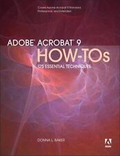 NEW - Adobe Acrobat 9 How-Tos: 125 Essential Techniques