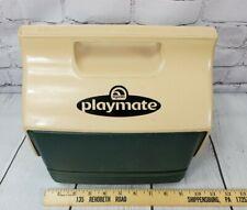 Vintage Igloo PlayMate MiniMate Cooler Dark Green and Tan Fishing Camping Cooler