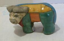 The Fenix Raku Pottery Cape Buffalo 3.5 Inch Figurine Hand Made in South Africa
