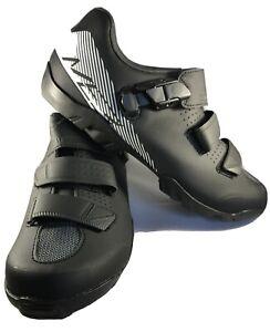 SHIMANO Men's ME3 WIDE MTB Gravel Shoes Black/White SPD Size EU 43 US 8.9