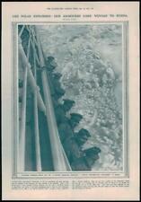 1916 antica stampa-RUSSIA MAR GLACIALE distacco britannico veicoli blindati (166)