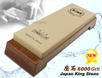 Japanese Brand King Whetstone #6000 Grit Sharpening Water stone Made in Japan