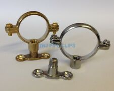 Brass / Chrome Munsen Ring + Male Baseplate - copper Pipe Clip support