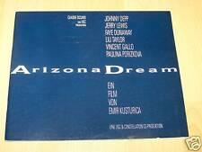 ARIZONA DREAM - Presseheft ´93 - JOHNNY DEPP Emir Kusturica