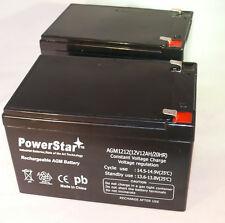 12V 12Ah SLA Replacement rechargeable Battery AGM (F2) 2PK