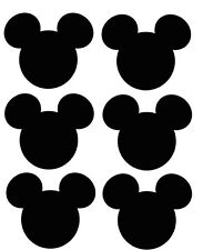 *****6 DISNEY MICKEY MOUSE HEAD *******  ***FABRIC/T-SHIRT IRON ON TRANSFERS