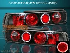 90-93 ACURA INTEGRA TAIL LIGHTS BLACK HALO 3 DOORS 91 92