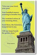 """Give me your tired, your poor, your huddled masses... - American History POSTER"