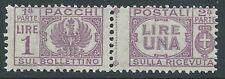1946 LUOGOTENENZA PACCHI POSTALI 1 LIRA MNH ** - CZ19-2