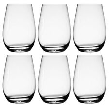 6pk Stolzle 22.25oz German Crystal Wine Glasses Stemless Red Wine Glass