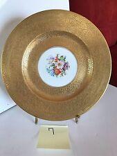 Royal Bavarian Hutschenreuther Selb 22K Gold Floral Dinner Cabinet Plate 7