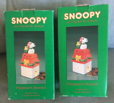Lot Of 2 Snoopy Potpourri Burner Willitts With Boxes Peanuts