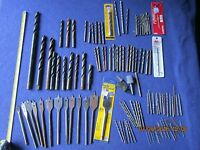 large lot of 116 vintage drill bits spade bits and grinders tools