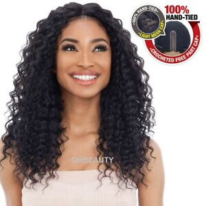 FREETRESS EQUAL SYNTHETIC 100% HANDTIED FREEDOM LACE PART CURLY HAIR WIG 301