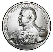 Medaille J.Joffre marechal de France Bronze argenté