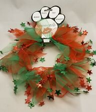 Dog Neck Smoochers Christmas Holiday Star Collar - Mirage Pet Green Red Large