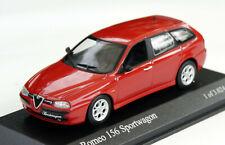 Alfa Romeo 156 Sportwagon 2.0 Bj. 2000-2003, rot, Minichamps-Modell im M. 1:43