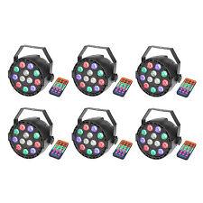6 Pack Par Uplights 12 Led Stage Stand DJ Lighting RGBW DMX512 Washing Can 8CH
