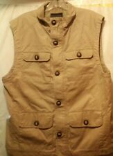 Banana Republic British Khaki Cargo Vest Adventure Safari Photographer Shirt Lg