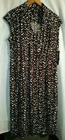 Chaps Women's Sleeveless Dress Brown Pullover A-Line V-Neck Size XL New with Tag