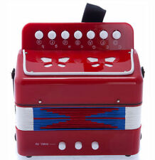 *GREAT GIFT* NEW Top Quality Red Accordion Kids Musical Toy w 7 Buttons 2 Bass