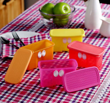Tupperware FridgeSmart Berry Herb Containers ~FOUR ~Red Orange Yellow Pink~ New