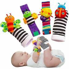 Baby Foot Finders Wrist Rattles Multi Textured Patterns Soft Sound Developmental