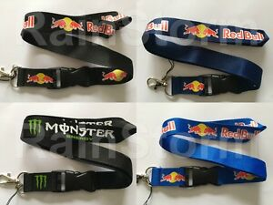 Drinks Brand Lanyard NEW UK Seller Black Navy Blue Green White Red Bull